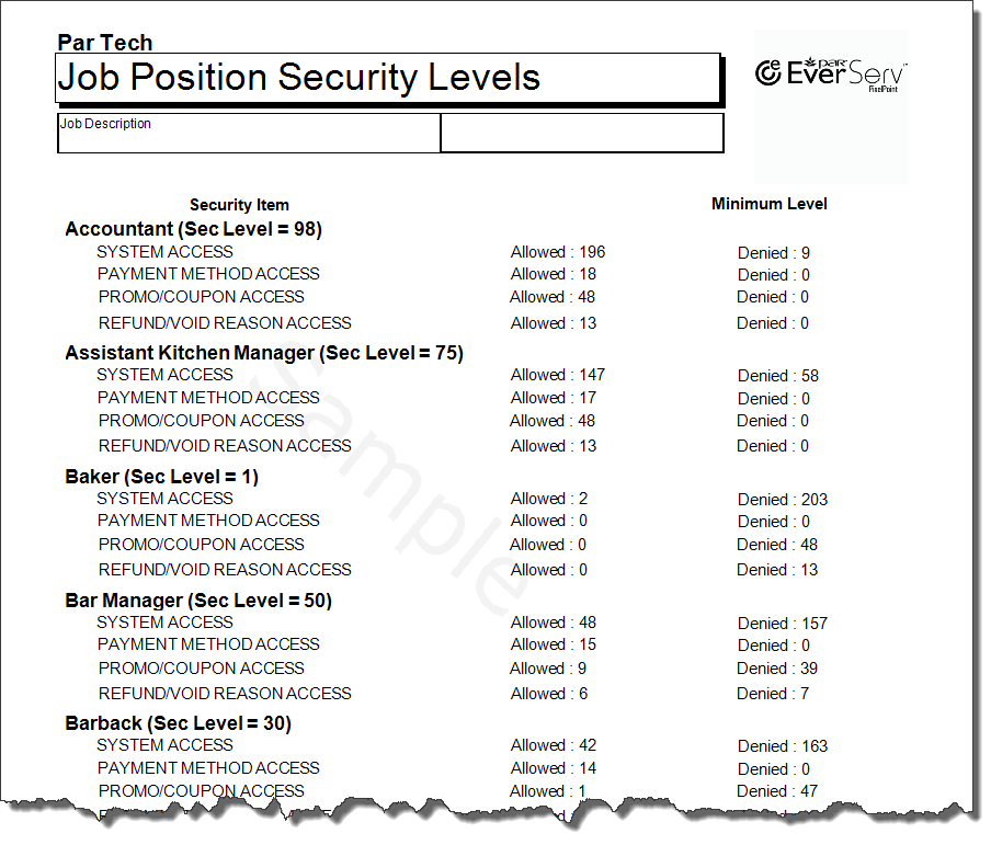 JobPositionSecurityLevels